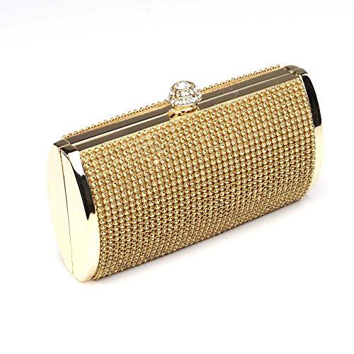 sac de sac strass ANDI main soirée mariage à ROSE pour luxe doré Pochette q4W8w06p