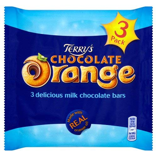 Original Terrys Chocolate Orange Bars Pack Imported From The UK England The Very Best Of British Chocolate Delicious Milk Chocolate Flavoured With Real Orange Oil