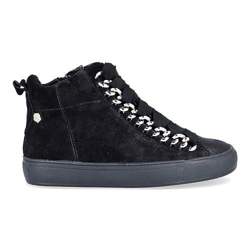 Carmela Shoes 66410 Botines de Mujer - 41, Serraje Negro: Amazon.es: Zapatos y complementos