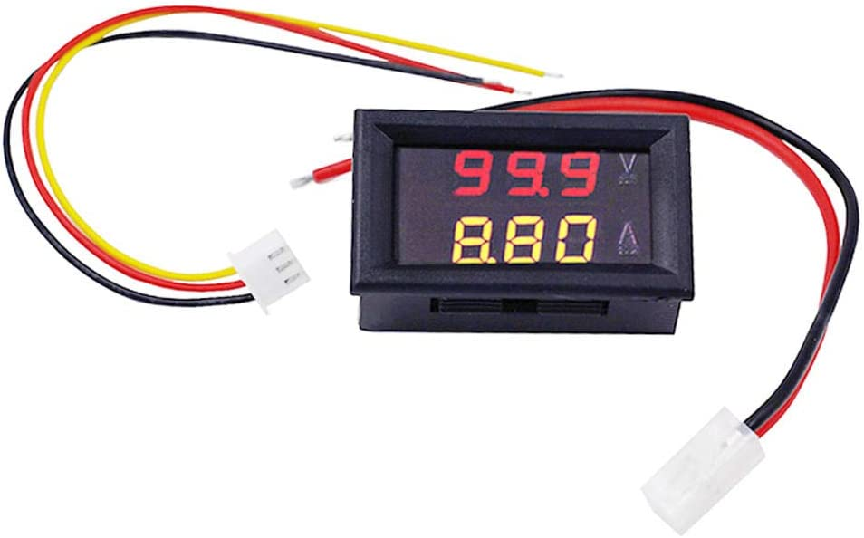 JJBHD Electronic Accessories /& Supplies Digital Voltmeter Ammeter Car Current Meter Dual Display 100V 10A DC Gauge Amperemeter Red+Yellow LED Tester Voltage Monitor to Provide You with The Quality of