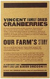 Vincent Family Dried Cranberries  ,10 oz
