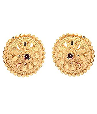 Buy GoldNera Gold Plated South Indian Style Ear Studs line at