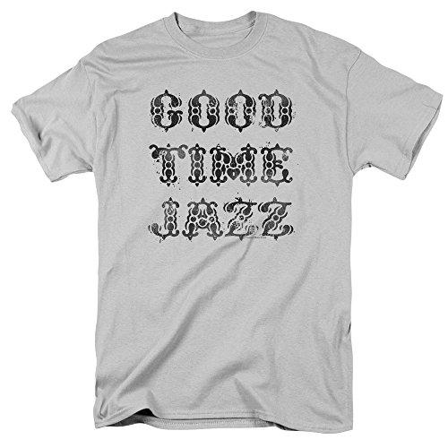 Trevco Mens Good Time Jazz Gtj Vintage Adult T Shirt  Silver  Medium