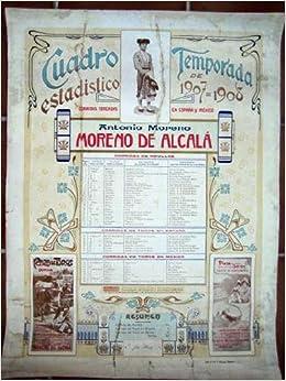 Antiguo Cartel Taurino - Old Poster : CUADRO ESTADÍSTICO ...