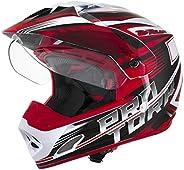 Capacete Pro Tork Cross TH-1 Vision Adventure Branco Vermelho Motocross