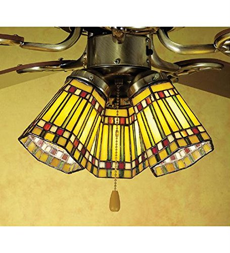 (4 Inch W Prairie Corn Fan Light Shade Ceiling Fixture)