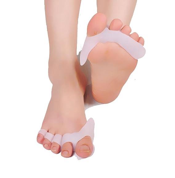 WAOBE Big Toe cuña separador silicona protector de juanetes hallux valgus corrector Toe Spreader Pad Foot Pain Relief antideslizante, cómodo y transpirable ...