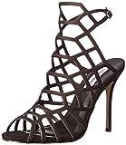 Steve Madden Women's Slithur Dress Sandal, Black Nubuck, 7.5 M US