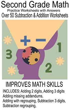 Math for Second Grader Addition & Subtraction Worksheets with ...
