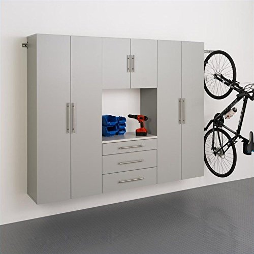 4-Pc Contemporary Storage Cabinet Set (Prepac Large Four)