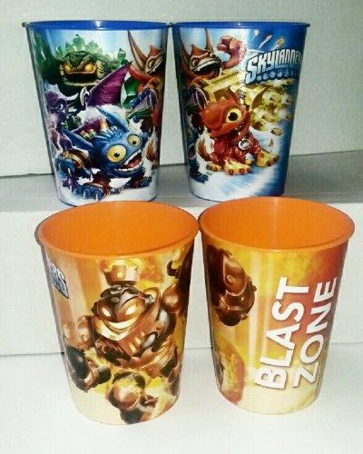 Skylanders 16oz Plastic Stadium Keepsake Cups - includes 2 different style cups