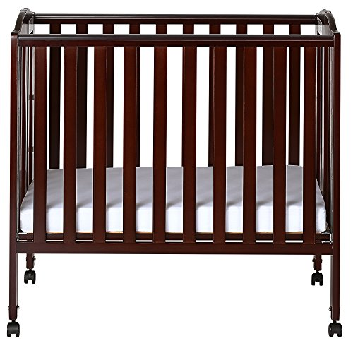Dream On Me 3 in 1 Portable Folding Stationary Side Crib, Espresso