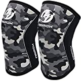 Knee Sleeves (1 Pair), 7mm Neoprene Compression Knee Braces, Great Support for Cross