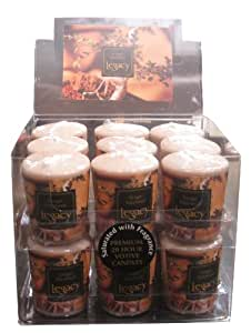 Root Scented Votive Candles, Box of 18, Ginger Patchouli