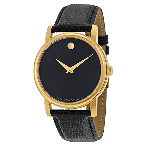 Museum Mens Movado - Movado Men's 2100005 Museum Gold Classic Leather Watch