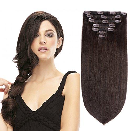 Brown Human Hair Clip - 15