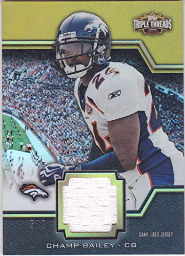 - 2011 TRIPLE THREADS CHAMP BAILEY GAME USED JERSEY /9