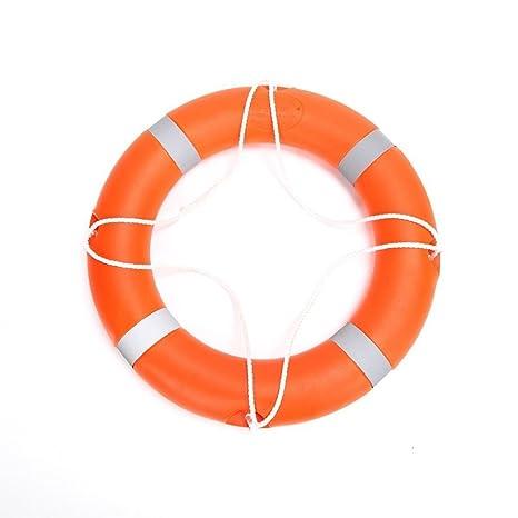 28 cm de diámetro profesional adulto espuma flotador naranja Lifebouy con bandas de color blanco libre
