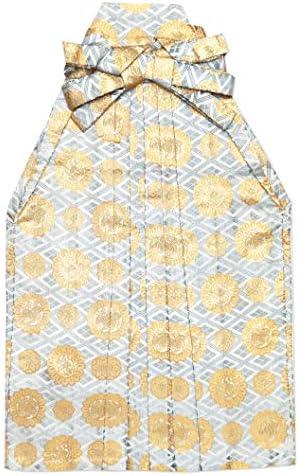 七五三 袴 5歳 男の子 金襴生地の袴 60cm 単品 合繊「ライトグレー 紋に菱」OHB60-1729tan