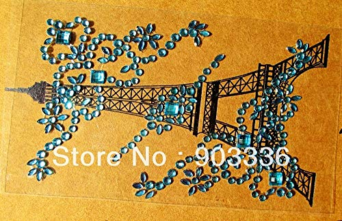Dalab Wholesale Flower self-Adhesive Rhinestone Stickers Scrapbooking Diary Mobile Stickers DIY embelishement Flourish