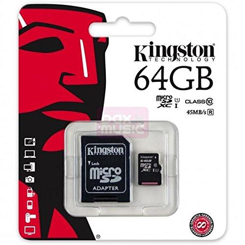 Tarjeta micro SD SDXC 64GB Clase 10para Samsung Galaxy J7(2016)