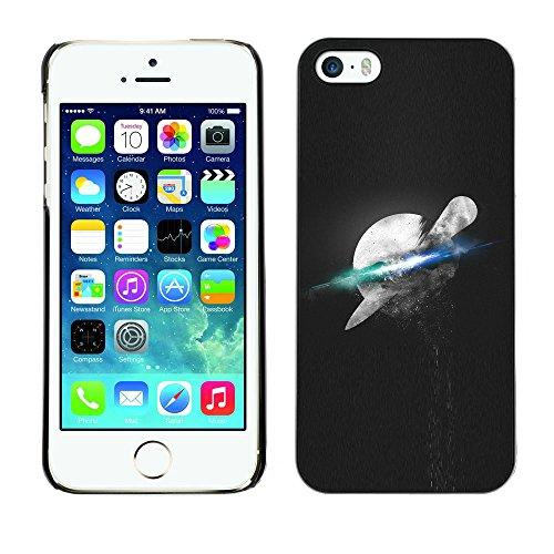 SuperStar // Refroidir image Étui rigide PC Housse de protection Hard Case Protective Cover for iPhone 5 / 5S / Psychédélique Espace Lune /