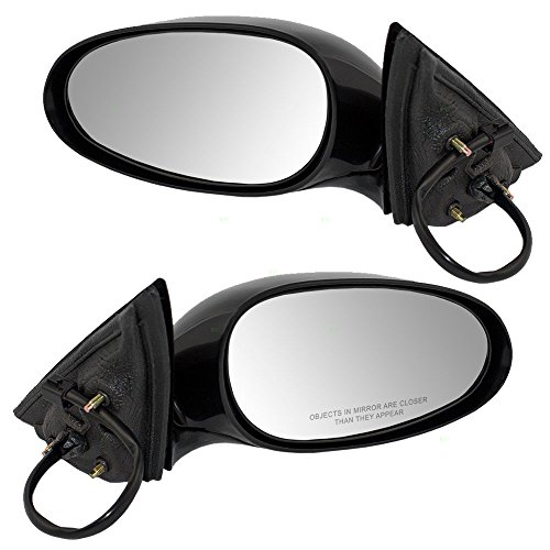 Driver and Passenger Power Side View Mirrors Smooth Replacement for Buick Oldsmobile 10316957 10316956