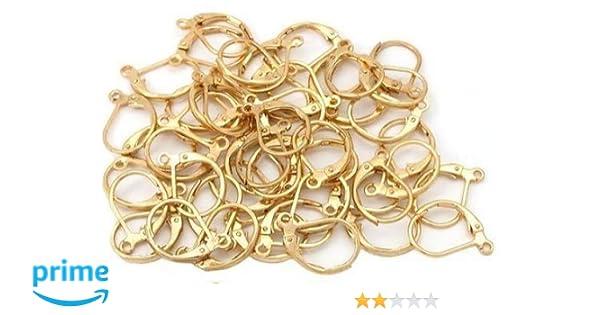 Brass LEVER BACK Earrings Hoops Earwires Findings Silver Gold Bronze DIY BULK