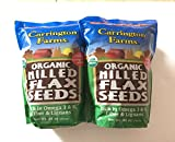 Carrington Farms Certified Organic Milled Flax Seeds - No cholesterol - Cold-Milled Processed - 96 Total Ounce