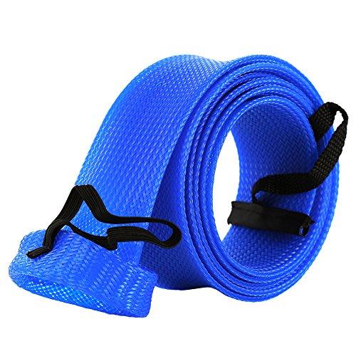 ETbotu - Guantes de protección para caña de Pescar giratoria (Extensibles, Trenzados, portátiles), Azul, 1