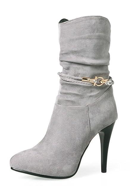 Chaussures Aisun marron Sexy femme WZsET