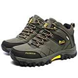 GOMNEAR Hiking Boots Men High Top Trekking Shoes Outdoor Non Slip Ankle Support Backpacking Walking Climbing Sneakers by, Green-43