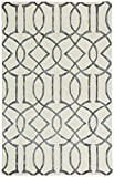 Rivet Modern Intertwined Wool Rug, 7''6' x 9''6', Silver