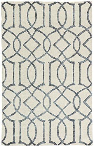 Rivet Modern Intertwined Wool Rug, 7''6' x 9''6', Silver by Rivet