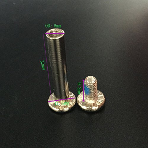 10 pcs Inline Skate Replacement Bearings Skating Screws OD 6mm Roller Blades Replacement Skate Wheel Axles