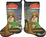 RNK Shops Dogs Playing Poker by C.M.Coolidge Christmas Stocking - Double-Sided - Neoprene