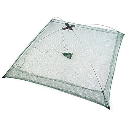 eDealMax 75cm x 75cm plegables cebos cangrejo Hexagonal de Malla de pescado Forma de paraguas moldeada