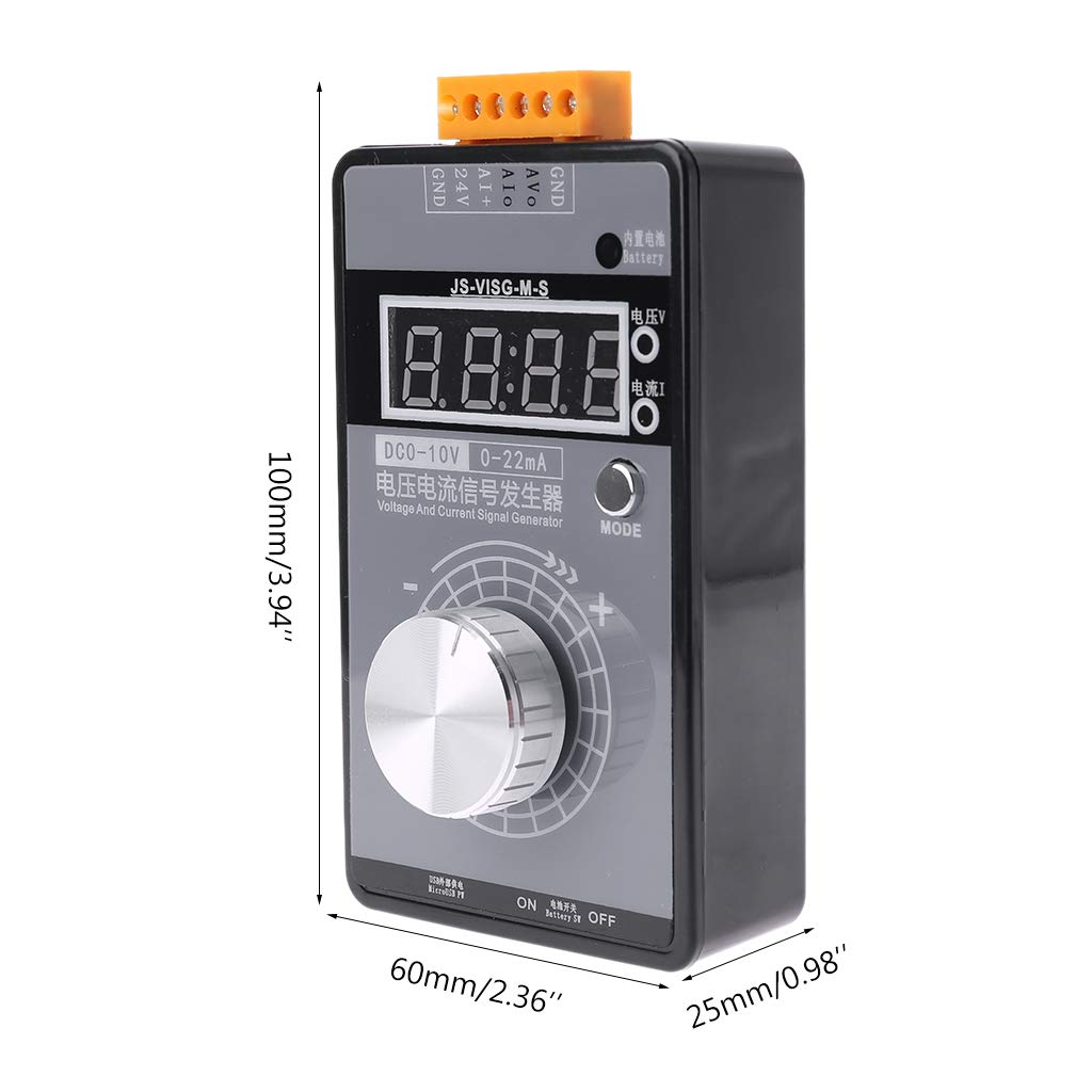 simulatore analogico con display a LED generatore di segnale portatile ad alta precisione 0-22 mA FangWWW 0-10 V