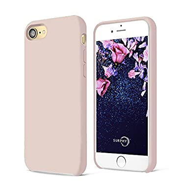 on sale 5889d c7da2 SURPHY iPhone 8 Case, iPhone 7 Case, Liquid Silicone Gel Rubber Shockproof  Case with Soft Microfiber Cloth Lining Cushion for Apple iPhone 8 (2017) /  ...