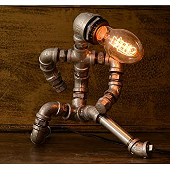 Kongfu Master, Industrial Lamp, Industrial Desk Lamp, Industrial Style Lamp,  Lamp Pipe