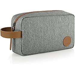 GAGAKU Toiletry Bag Shaving Dopp Kit Portable Makeup Pouch Cosmetic Accessories Organizer for Travel Gym- Brown