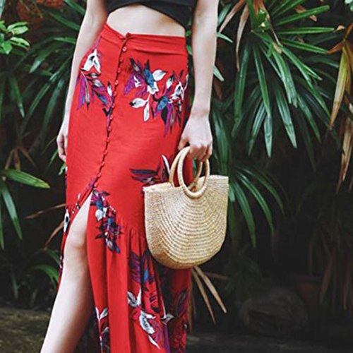 de para verano Bolsa retro Bolsos de playa Bolsa Paja Crossbody Mujer de mujer 03 de Domybest OxqRzBp