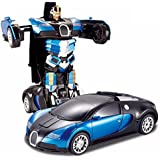 Fantasy India 1:14 Scale Remote Controlled One Button Car To Transformer To Car Converting Bugatti Style Transformer And It Is Rechargeable - Multicolor