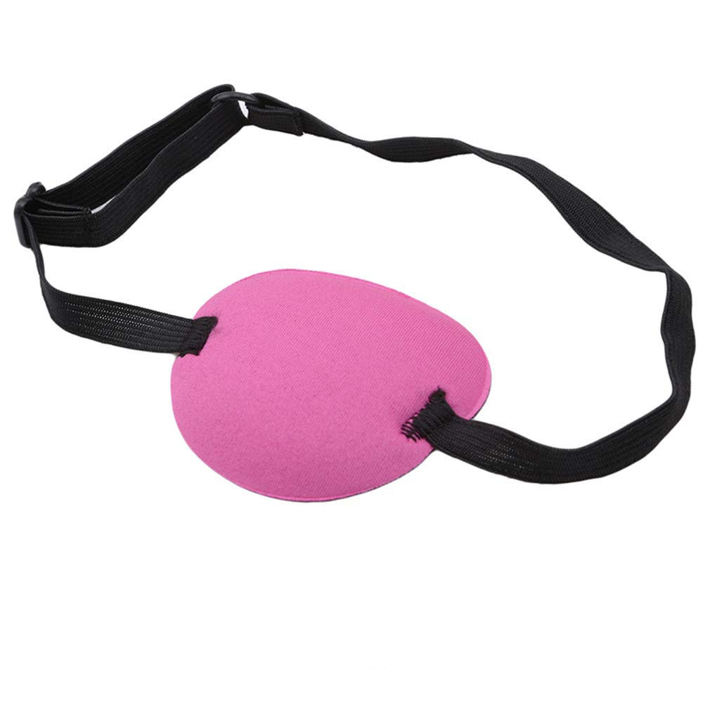 Dolland Eye Patch Elastic Eye Patches Lazy Eye Patches for Adults Lazy Eye Amblyopia Strabismus with Adjustable Buckle,Fuchsia