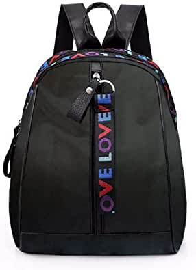 Bolsos Mochila de Mujeres Antirrobo Impermeable Nylon Pequeña Mochilas Negro Escolares Bolso Bandolera Casual para Mujer Monedero de Cuero de Viaje Tela Oxford de Bolsa de Hombro Escolar