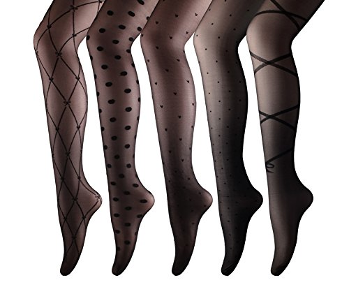 Buy black lace dress coloured tights - 1