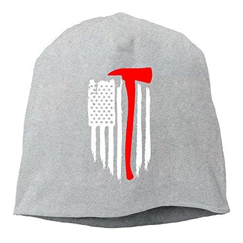 - American Flag Firefighter Women/Men Wool Hat Soft Stretch Beanies Skull Cap Unisex