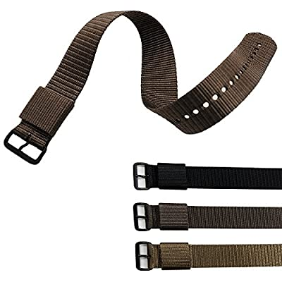 MARATHON Ballistic Nylon Watch Band, Military Grade with Stainless Steel, Non-magnetic Buckle by MARATHON