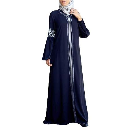 ღLILICATღ Vestido Largo de Mujer Musulmana Étnico Vestido de ...