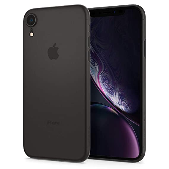 newest c98ef 8f017 Spigen Air Skin Designed for Apple iPhone XR Case (2018) - Black